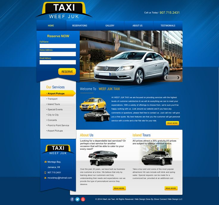 Taxi Web Template