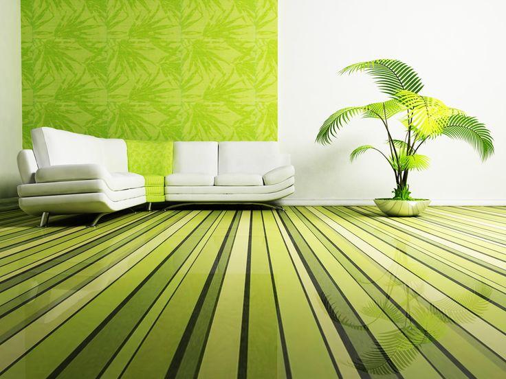 Green interior exudes calm. The feeling of nature. Green calms. Groen interieur