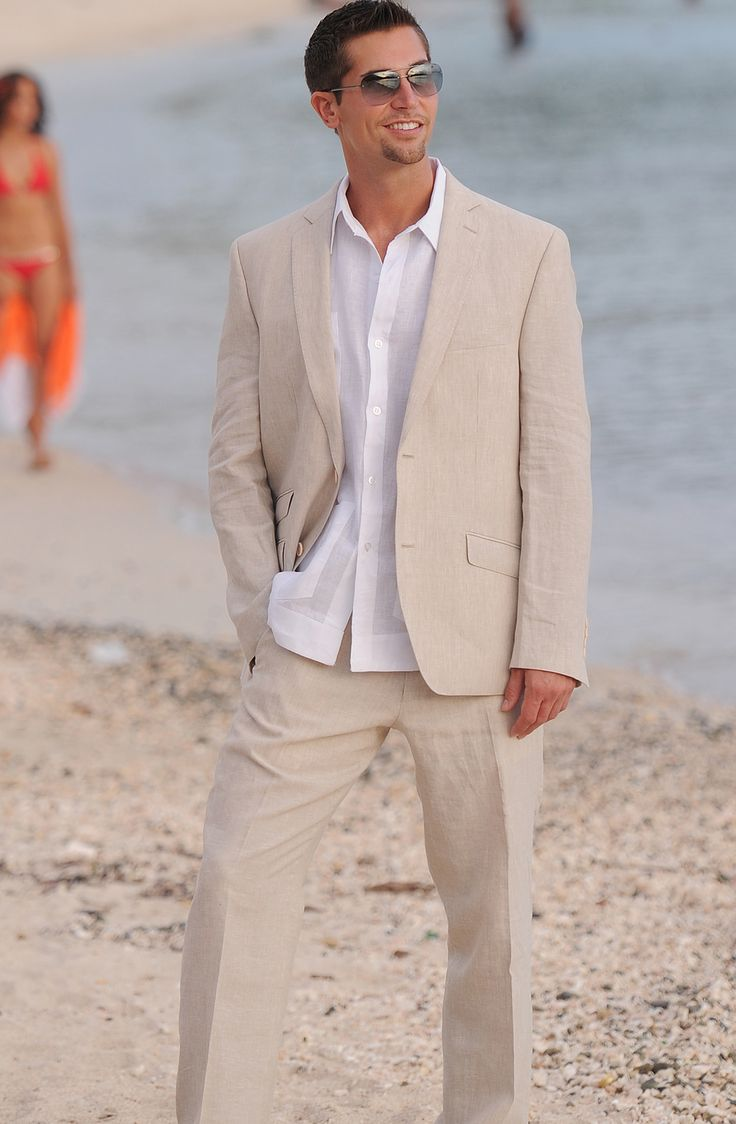 Casual beach wedding attire destinationwedding groom for Wedding dress shirts for groom