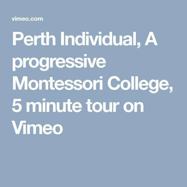 Perth Individual, A progressive Montessori College, 5 minute tour on Vimeo