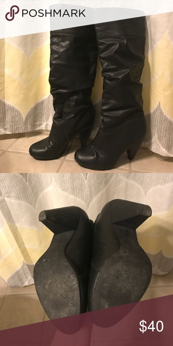 SALEJessica Simpson Boots Black slouchy boots 3in heel. Jessica Simpson Shoes Heeled Boots