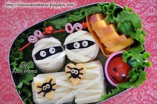キャラ弁 | きしめん巻いてみよう。 | Pindex.jp: Bento Idea, Halloween Bento, Bento Boxes, Bento Lunch, School Lunch, Lunch Ideas, Mummy Bento, Kid