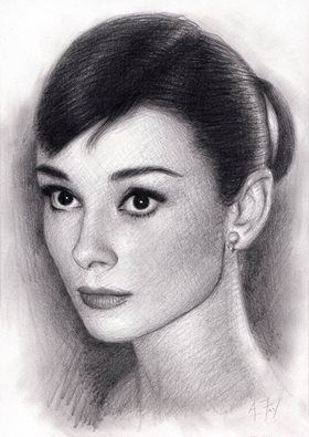 Always loved Audrey Hepburn,always will too:} - here`s my latest drawing of her,pencil on paper as usual!