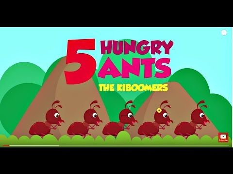 Count from 5-0 with 5 Hungry Ants song for Preschoolers! #kidsongs #preschool #ants