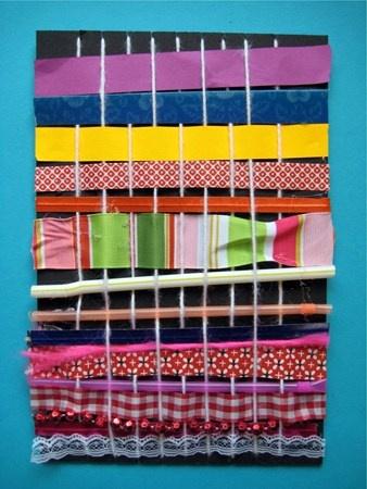 Texture- Kindergarten Weaving
