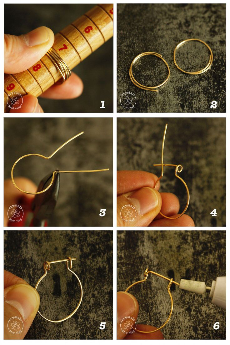 This jewelry DIY tutorial shows you step-by-step how to make wire wrapped hoop earrings with fresh water pearls. You will learn how to create the earring frame, how to attach the beads to the earrings and how to secure the hoop earrings. #DIY #jewelry #jewelrydiy #earringsdiy #earringshandmade #wirewrapping #wirejewelry #howto #pearlearrings #hoopearrings