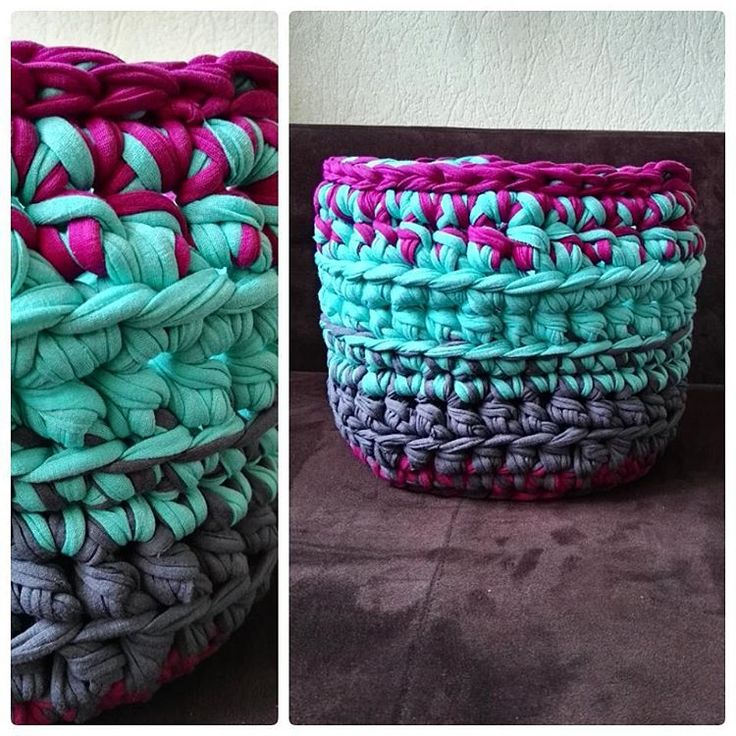 Koszyk z resztek na resztki włóczki 👈😈❤ #kottoon #crochet #crocheting #szydełko #szydelkowanie #szydełkowelove #yarn #yarnaddict #yarnporn #crochetxxl #karolahandmade #rekodzieło #handmadeinpoland #handmade #craft #craftart #moderncrochet #polishgirl #moderncrochet #inprogress #kottoon #tshirtyarn #crochetbasket #tshirtyarnbasket #koszyk #szydełkowykoszyk