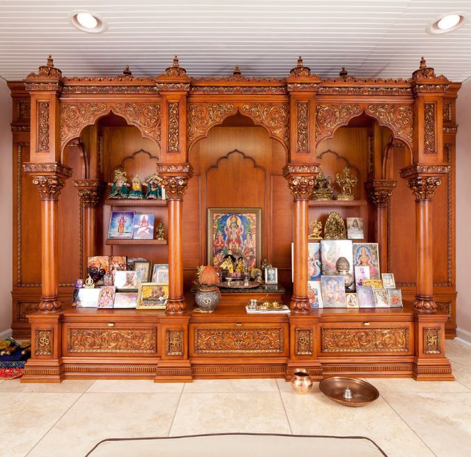 Pooja room designs in wood pooja room woods room and for Interior cupboard designs for hall