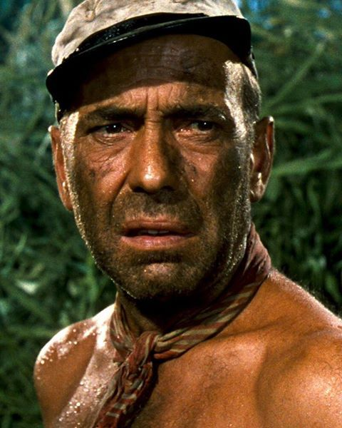 "Humphrey Bogart in ""The African Queen"""