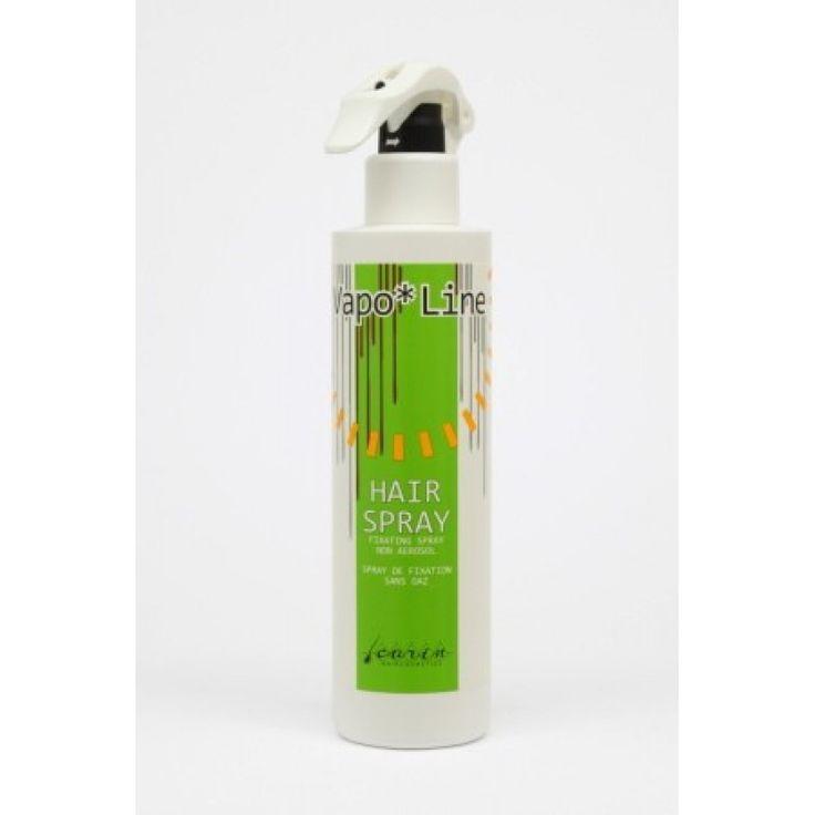 Fixativ Vapo Line 300 ml. Fixativ profesional fara aerosoli cu uscare rapida. Pastreaza volumul si ofera aspect natural parului. Hairspray - Vapo Line - Carin Haircosmetics Web: www.CarinRomania.eu Tel: 0745 097054