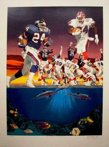 Super-Bowl-XXV-25-Bills-NY-Giants-original-hand-drawn-lithograph-by-Danny-Day
