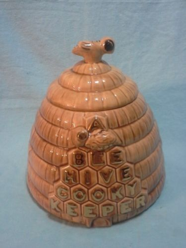 Jars cookie jars and vintage on pinterest - Beehive cookie jar ...