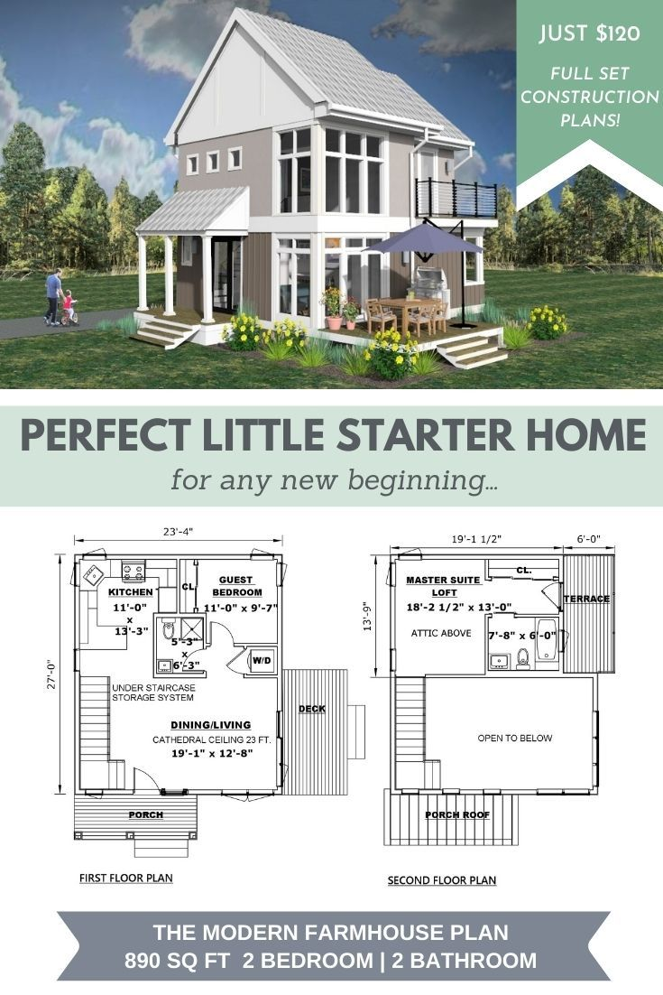 Small Modern Farmhouse Plan On Sale In 2020 Modern Farmhouse Plans Affordable House Plans Small Farmhouse Plans