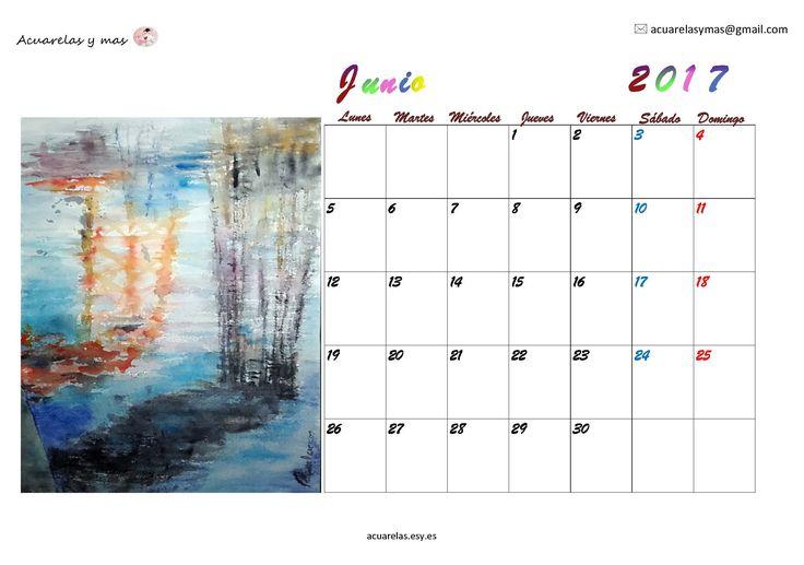 """#junio en mi #calendario 2017. """"Si buscas que sea tú, conseguirás que sea más yo. Si aceptas que soy yo, me será más fácil acercarme a ti"""". Que este mes de junio sea propicio para acercarnos mucho más #acuarelas #watercolor #painting #artist #draw #June"""