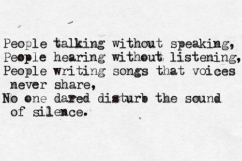 sound of silence lyrics pdf
