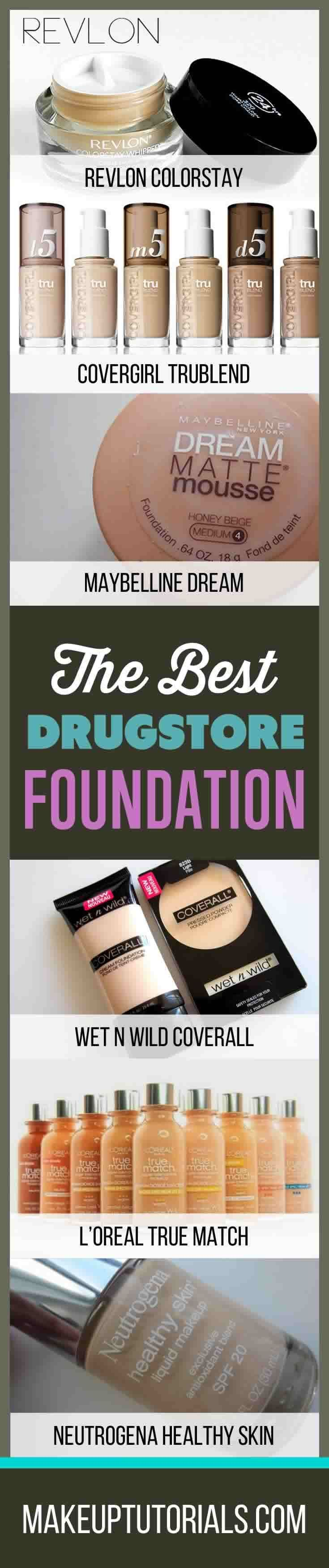 All The Best Drugstore Dupes For Finding Cheap Makeup | Drugstore Makeup Brands You'll Love By Makeup Tutorials. http://makeuptutorials.com/best-drugstore-foundation/
