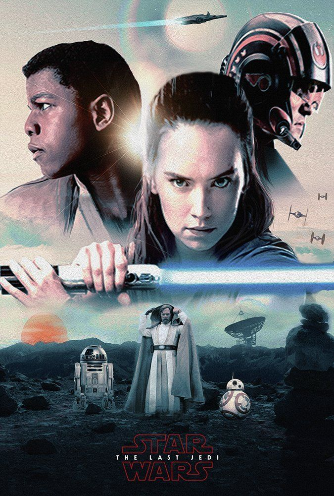 Star Wars: The Last Jedi art by MessyPandas (based on this promo)