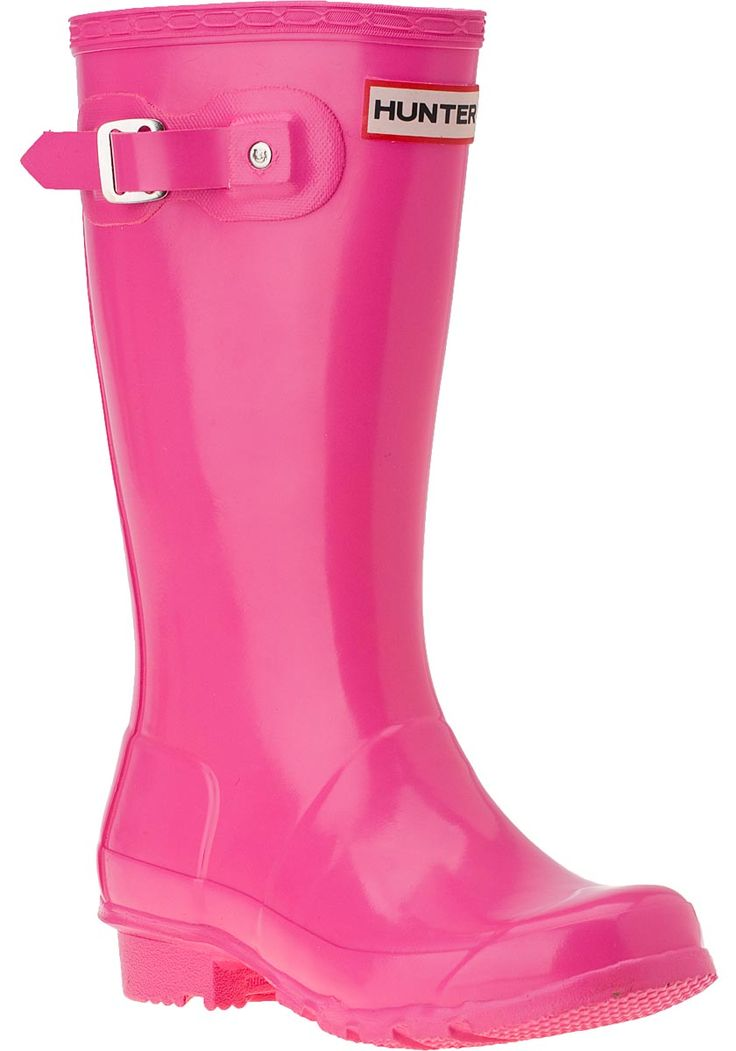 kids hunter boots | Hunter for Kids Kids Original Rain Boot Fushia Glossy - Jildor Shoes ...