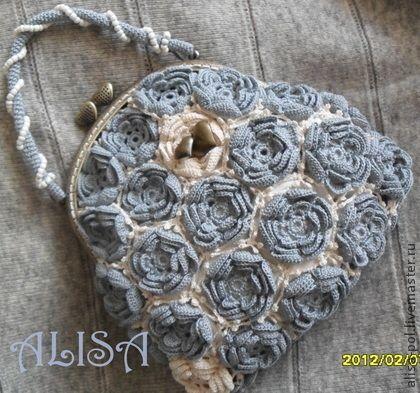 """Bolsas artesanais.  Mestres - Feira artesanal bolsa """"coração"""".  Handmade."""
