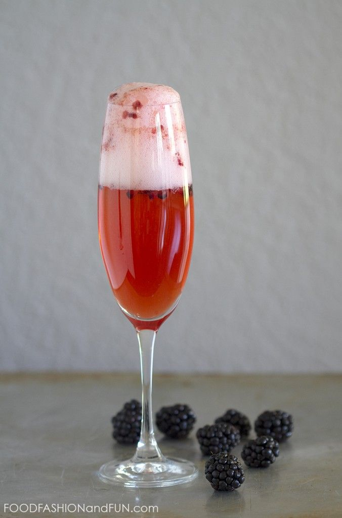 blackberry, fruit, drink, cocktail, bourbon, champagne, prosecco, foodfashionandfun, food blog, lifestyle blog