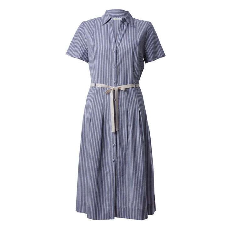 Ophelia Pin Stripe Shirt Dress from #bibicoclothing