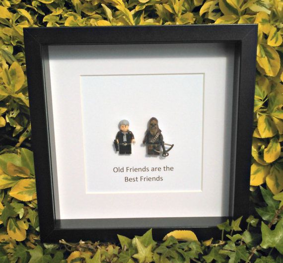 Han & Chewie Old Friends Geek Gift Star Wars by DanMakesWithLove