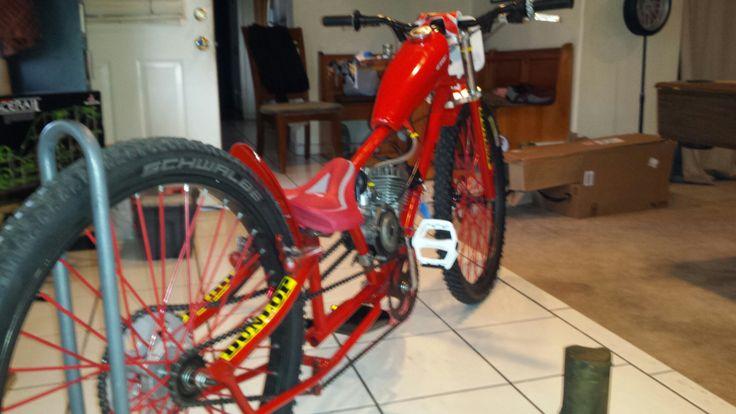 Motorized dirt bike 80cc