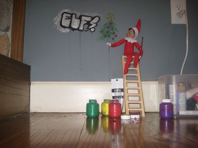 Elf on shelf - naughty!