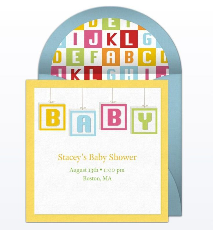 9 Free Online Baby Shower Invitations Your Guests Will Love: Baby Blocks  Evite From Punchbowl