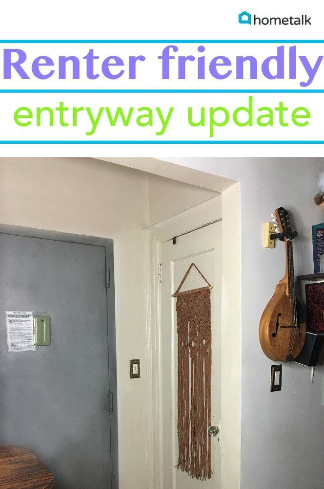 And you can do it if you rent! Washi Tape Doorway