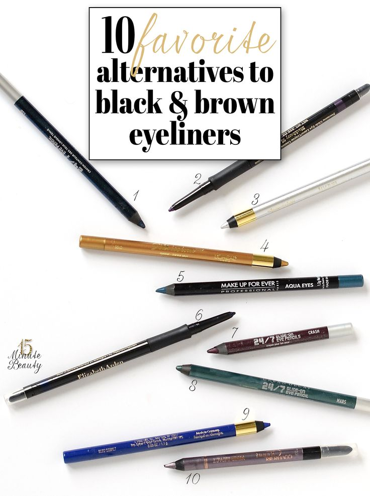 My Favorite Alternatives to Black and Brown Eyeliners