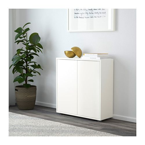 EKET Cabinet with 2 doors and 2 shelves, white white