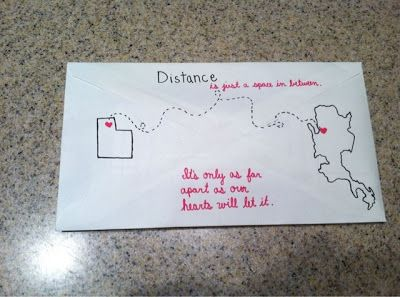Thoughts of a Missionary Girlfriend: Craft: Back of Envelopes