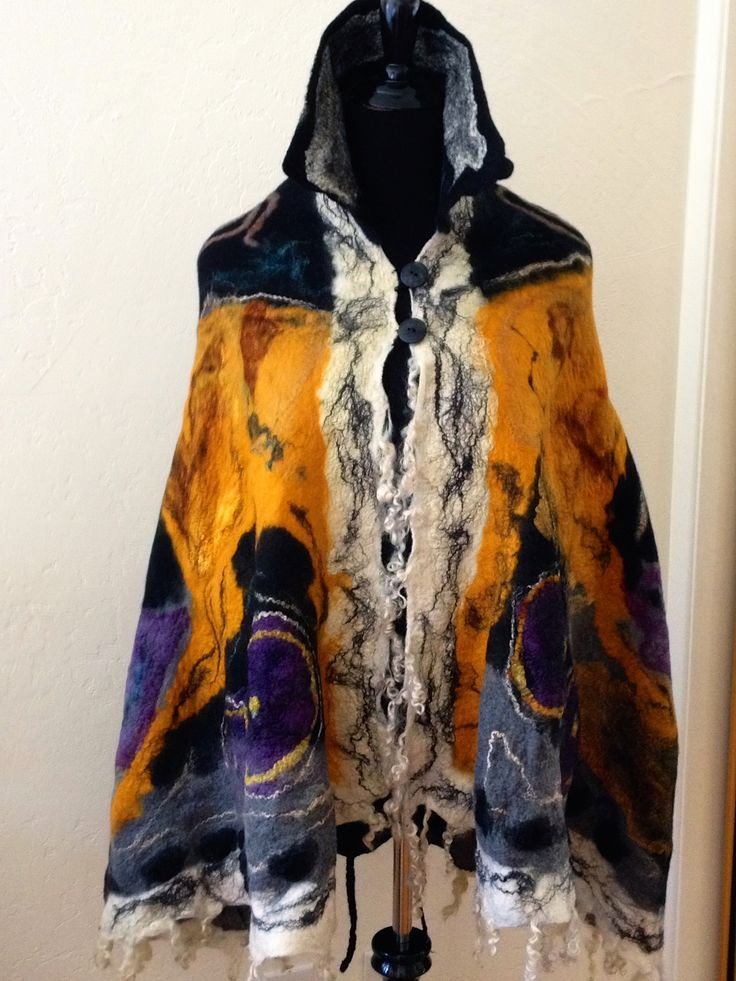 nuno felted cape
