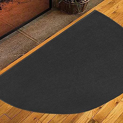 Lsghome Half Round Fireplace Carpet Fireproof Fireplace Anti Slip Mat Fire Retardant Semi Circular Floor Mat For Fireplace Fireplace Rugs Entrance Rug Rugs Fire retardant rugs for fireplace