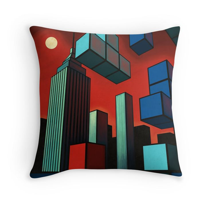 """Tetroid Apocalypse"" Throw Pillows by Remus Brailoiu 