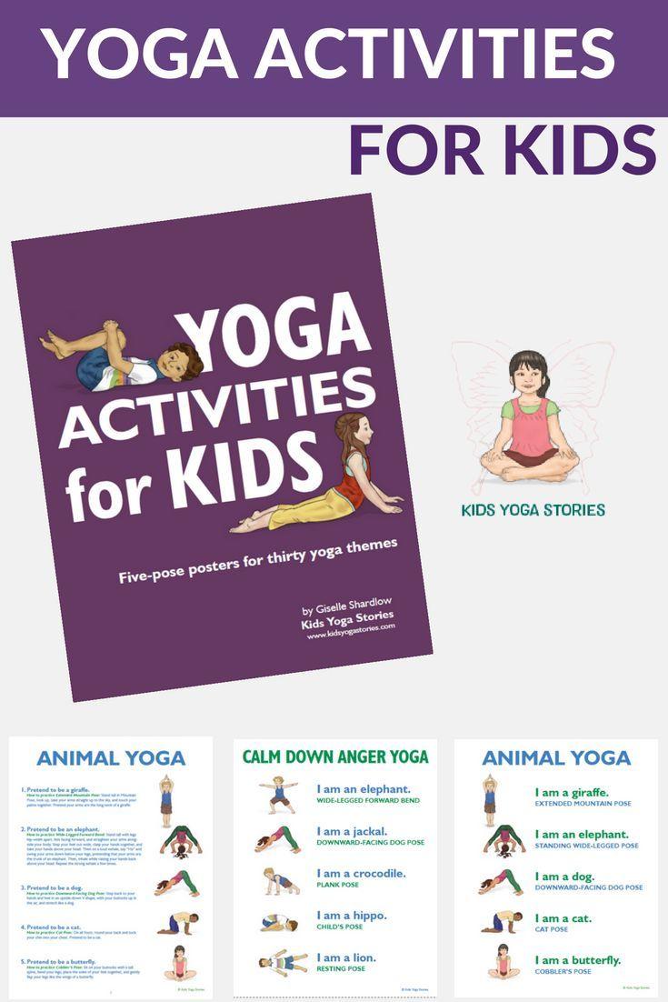 Yoga Poses 30 Playful And Fun Yoga Theme Posters Practice Your Animal Yoga Or Follow Thes Yoga Themes Animal Yoga Yoga For Kids