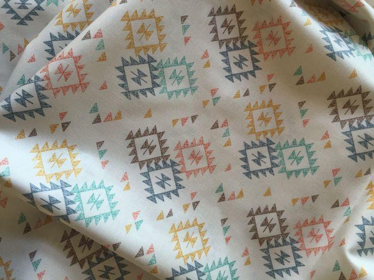 Aztec Print Crib Sheet Boho Nursery Gender Neutral Print