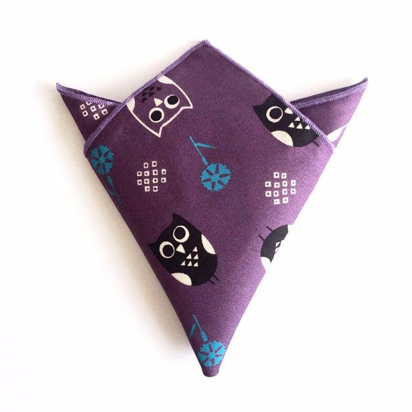 The Owl Purple Pocket Square — AED 85