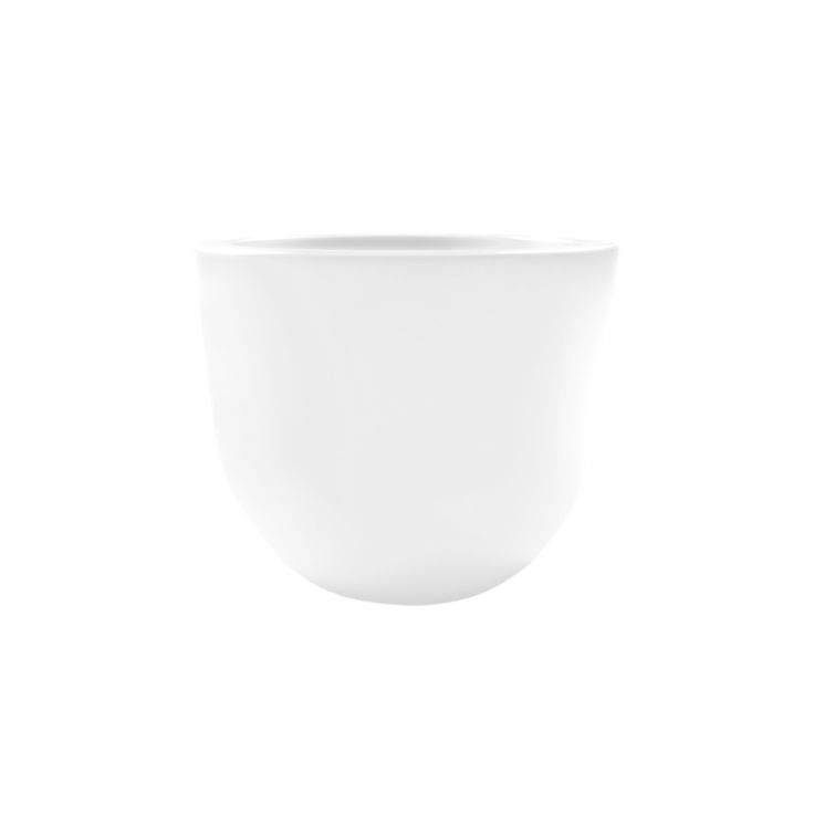 VA360-D00450-000 - Γλάστρα EGGY Φ45x36cm, 40 λίτρων, λευκή, Rotational, Ιταλίας | Ready.gr