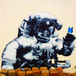 Space man and Butterfly by Martin Whatson (Bergen Kjøtt)