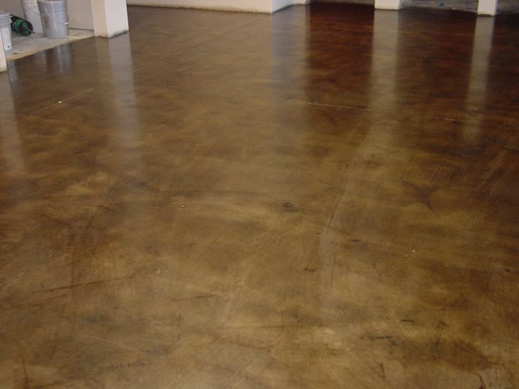 Walnut Colored Concrete Stain Office Building Torrance