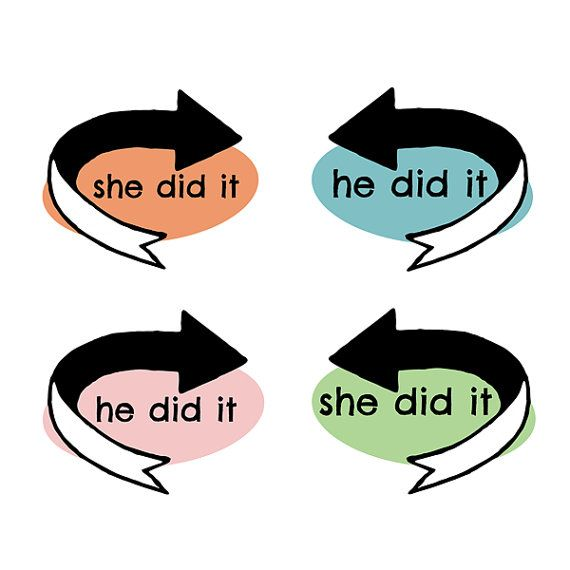 INSTANT DOWNLOAD - He Did It / She Did It Iron-on / Printables - Twins, Siblings, Brother, Sister, Halloween, Baby, Kids, Humor, Funny