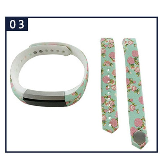 24 Colors Graphic Silicone Fitbit Alta Band Large & Small
