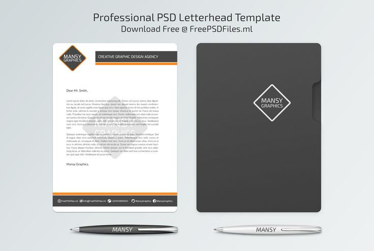 Professional Letterhead PSD Template - Free PSD Files Free PSD - free professional letterhead templates