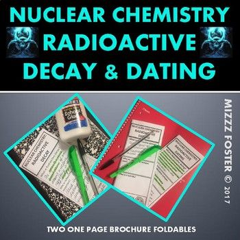 Easy to use one page brochure style foldables covering radioactive decay and radioactive dating. Students will fill in definitions for radioactive decay, learn how it is used and learn about the five difference decay emissions. Alpha emission, beta emission, electron capture, gama emission and positron emission are covered with easy to understand diagrams.