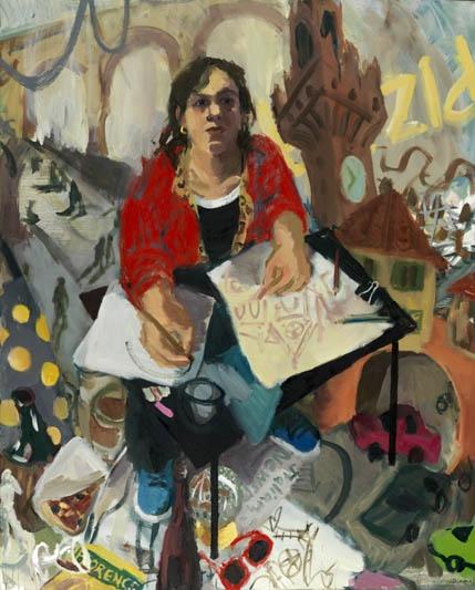Wendy Sharpe self portrait