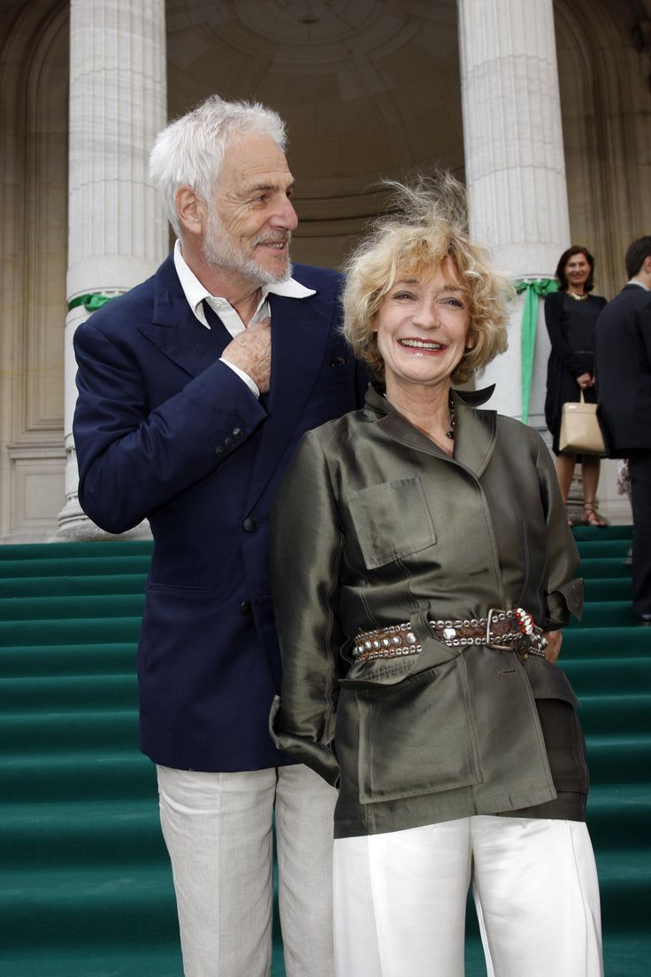 Loulou de la Falaise: 2009: With her husband, Thadee Klossowski, in Paris