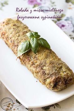 Rolada z mięsa mielonego ze szpinakiem jest bardzo dobra i szybka w przygotowaniu.