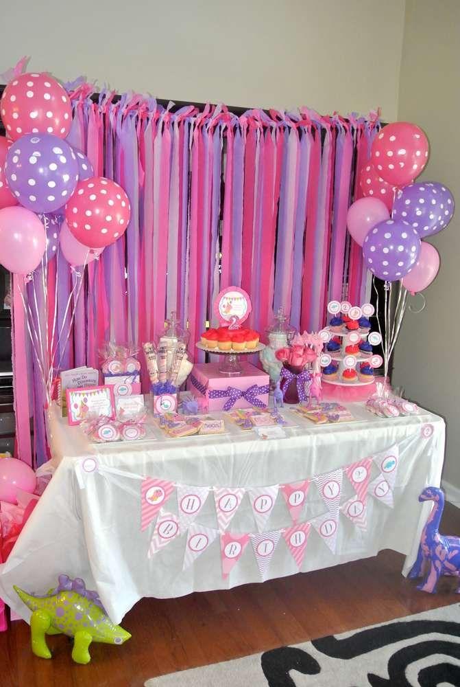 Alaina's 2nd Pink Dinosaur Birthday Party | CatchMyParty.com